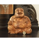 Buddha Glück aus Suar Holz groß