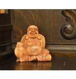 Buddha Glück aus Suar Holz