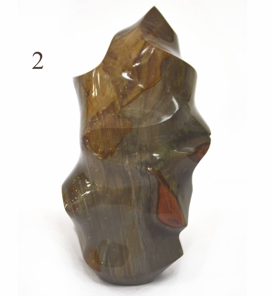 Dekostein Flamme aus Polychromjaspis M
