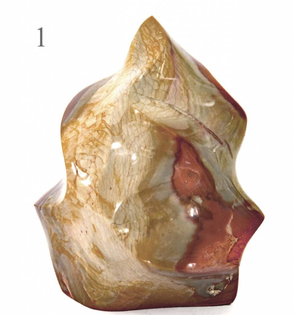 Dekostein Flamme aus Polychromjaspis L