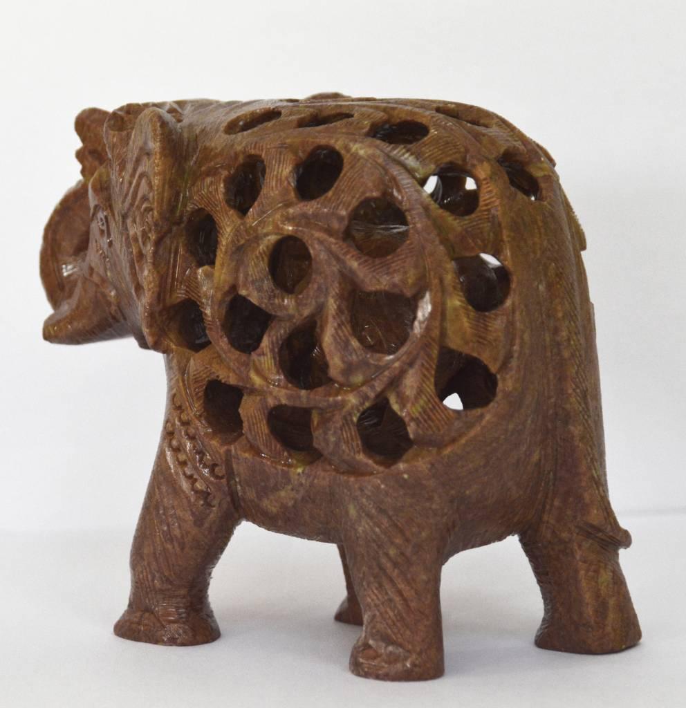 Elefant Undercut 10 cm Speckstein Indien