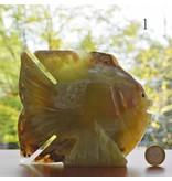 Fisch groß aus Onyx Marmor ca. 15 cm