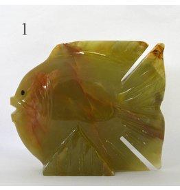 Fisch groß aus Onyx Marmor
