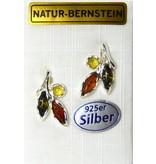 Bernstein Ohrstecker Herbstlaub - aus der Ostsee?