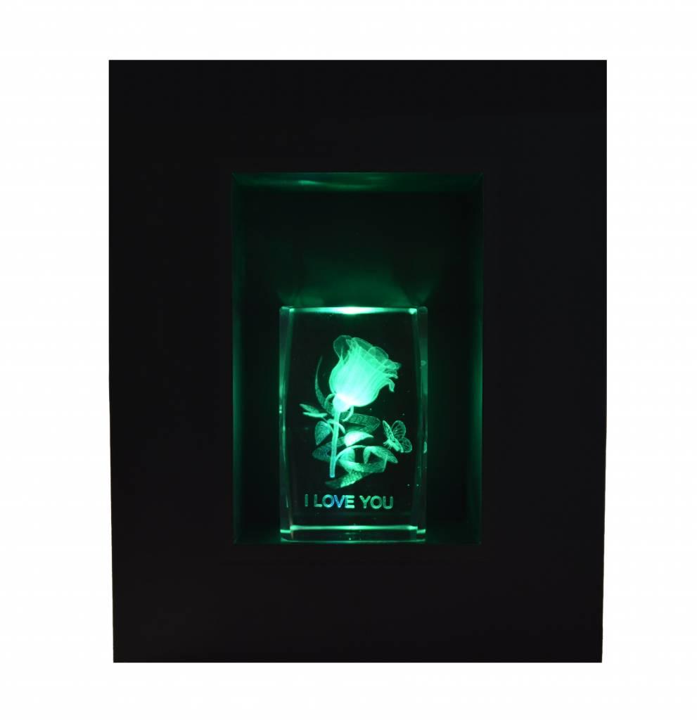beleuchteter Rahmen für Deko