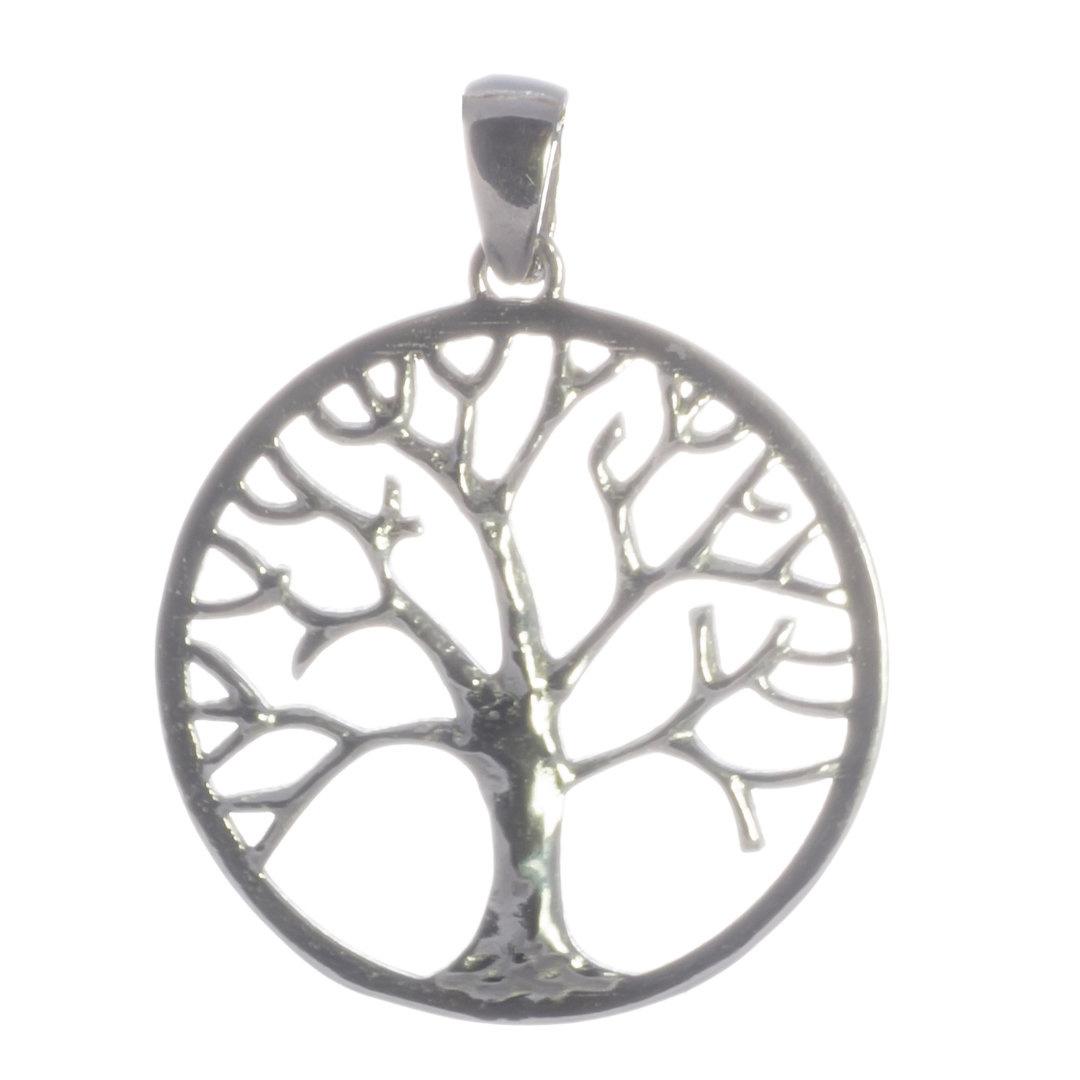 Baum des Lebens Silberanhänger rhodiniert