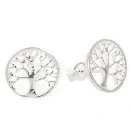 Baum des Lebens Ohrstecker Silber