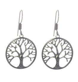 Baum des Lebens Ohrhänger Silber