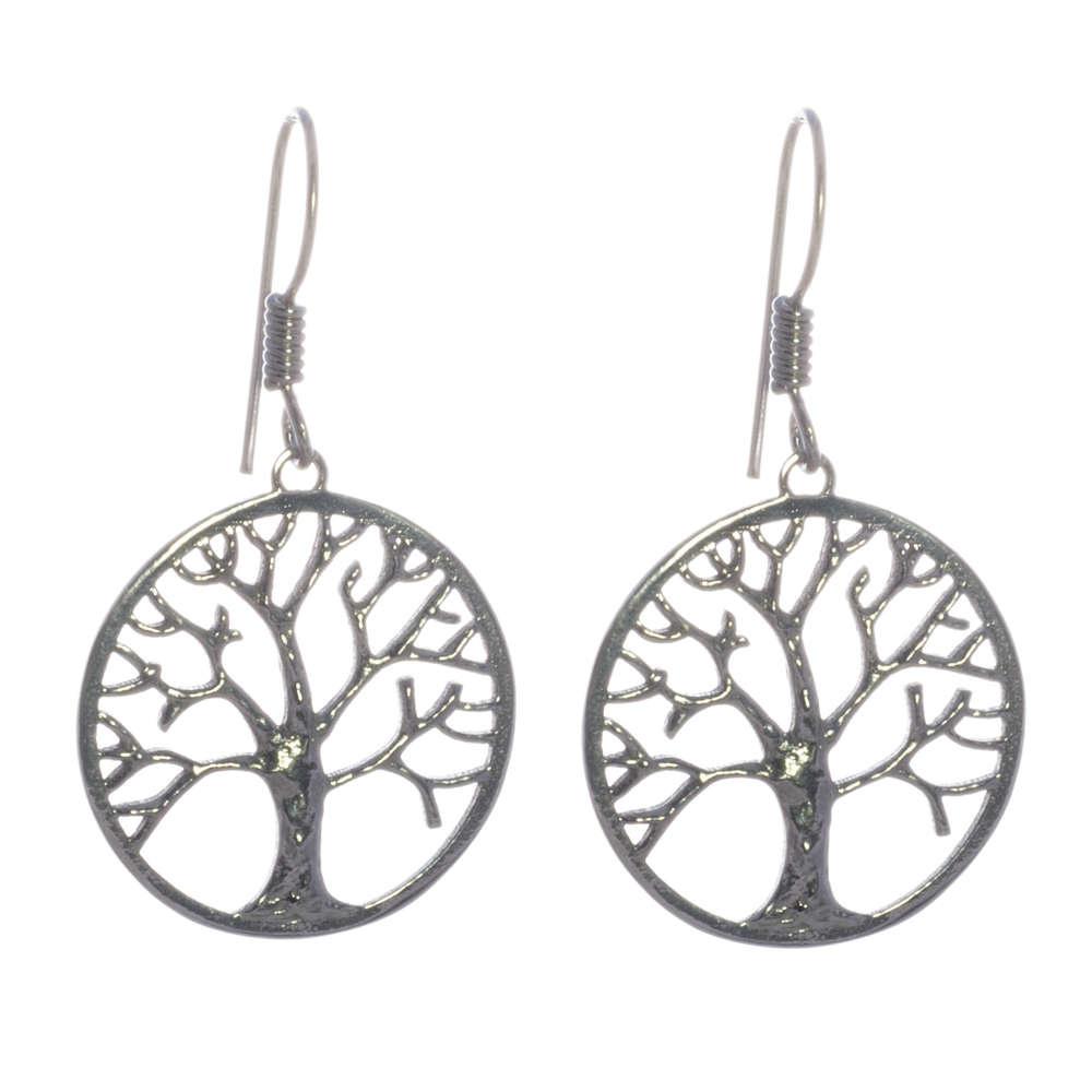 Baum des Lebens Ohrhänger Silber rhodiniert