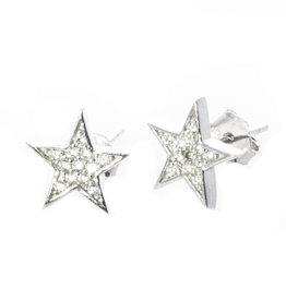 Ohrstecker Stern Silber mit Zirkonia