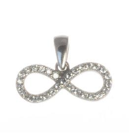 Anhänger Infinity Silber mit Zirkonia