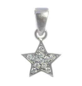 Anhänger Stern Silber mit Zirkonia