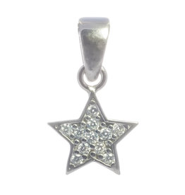 Stern Silber mit Zirkonia