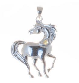 Anhänger Pferd Silber mit Citrin