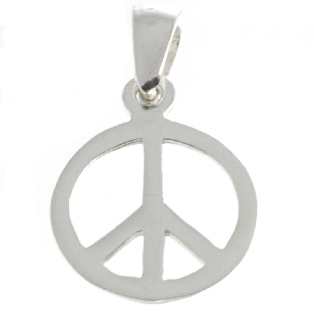 Peace Silberanhänger rhodiniert