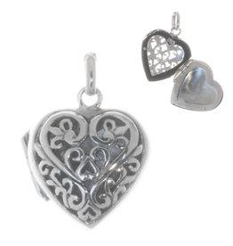 Herz Medaillon Silber