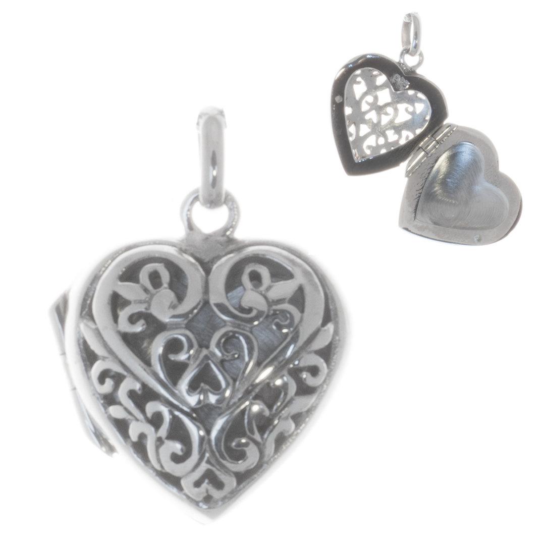 Herz Medaillon 925er Silber