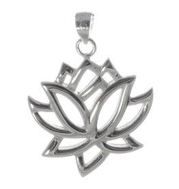 Lotusblüte Silberanhänger