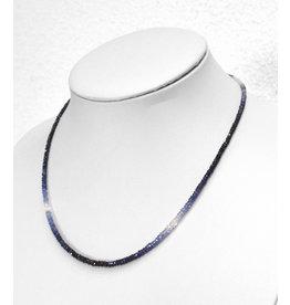 Saphir blau Kugelkette facettiert