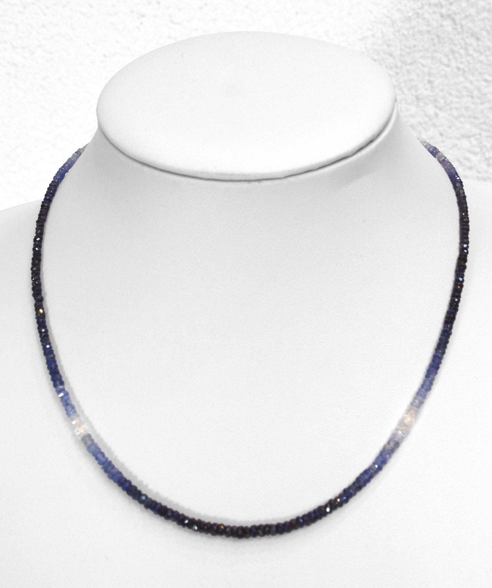 Saphir Blau Kugelkette