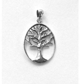 Baum des Lebens Silberanhänger oval