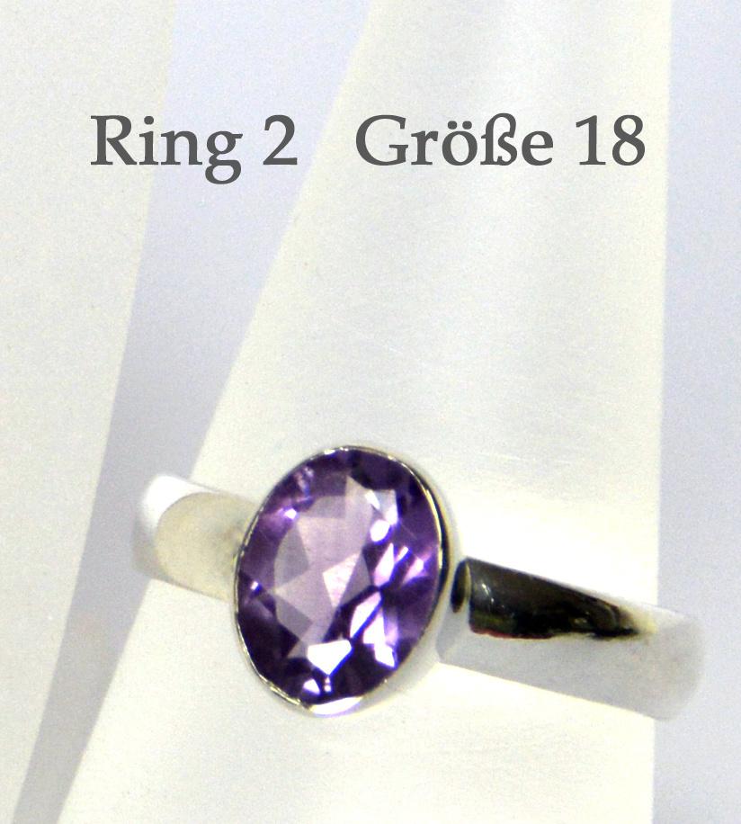 Amethyst Ring Silber