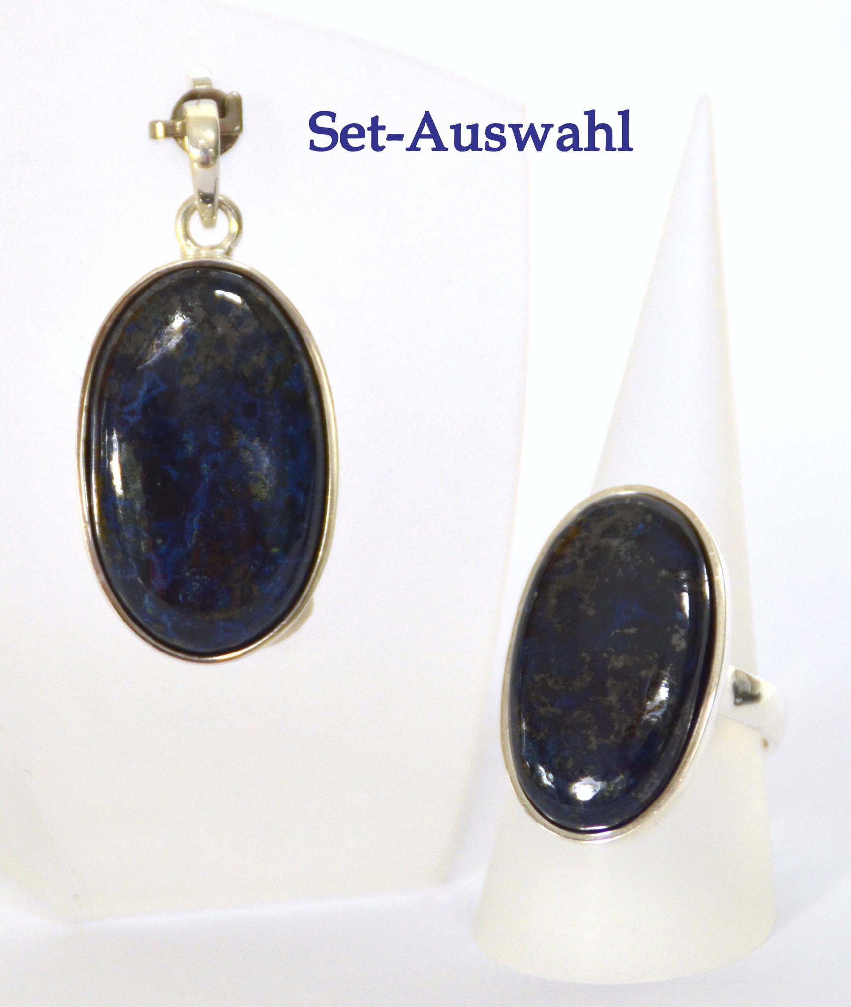 Azurit Set Vanessa in 925er Silber