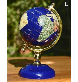 Globus aus Edelsteinen ab