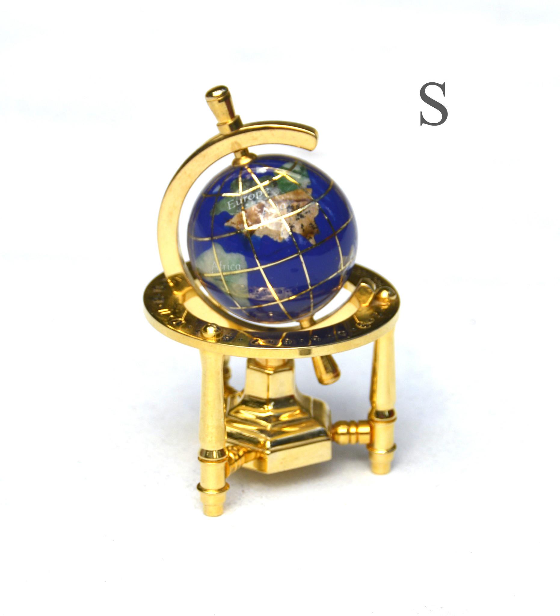 Globus aus Edelsteinen Dreibein