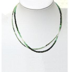Smaragd Kugelkette facettiert ab