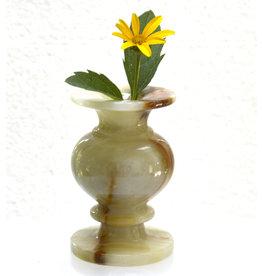 Vase klein aus Onyx Marmor 6,5 x 9,5 cm