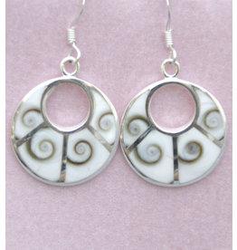 Operculum Fächer Ohrhänger Silber