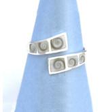 Operculum Bandring Silber offen