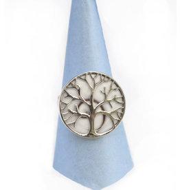 Operculum Baum des Lebens Silberring
