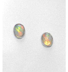 Opal Ohrstecker 925er Silber