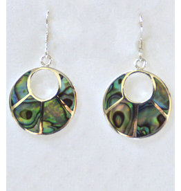 Abalone Fächer Ohrhänger Silber