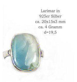 Larimar Silberring ab Größe 18,5