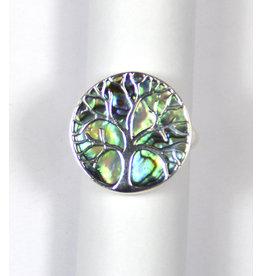 Abalone Baum des Lebens Silberring