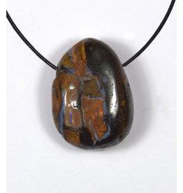 Boulder Opal Trommelstein gebohrt