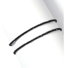Spinell Kugelarmband 2 mm facettiert