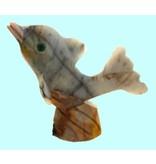 Delfin Welle Speckstein Peru 33 mm