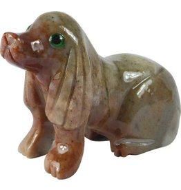 Hund Speckstein ca. 33 mm