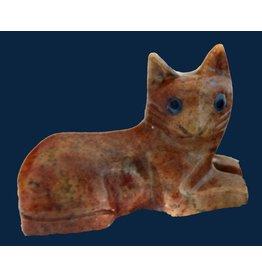 Katze liegend Speckstein ca. 33 mm
