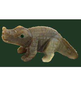 Krokodil Speckstein ca. 33 mm