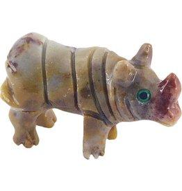 Nashorn Speckstein ca. 33 mm