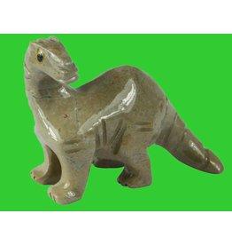 Saurier Brontosaurus Speckstein ca. 33 mm