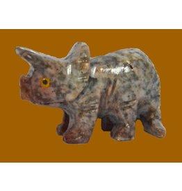 Saurier Triceraptos Speckstein ca. 33 mm