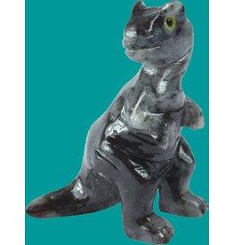 Saurier Tyrannosaurus Speckstein ca. 33 mm