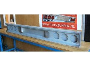 VTS bumper met uitsparing voor kenteken 6x ronde lampen staal