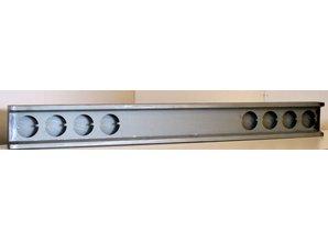 VTS bumper 8x ronde gaten voor LED lampen staal